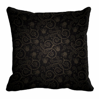meSleep Black Ethnic Cushion Cover (20x20)
