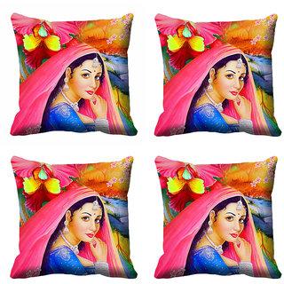 meSleep Beautiful Lady Cushion Cover (12X12)