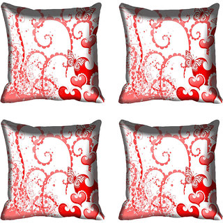 meSleep Heart Digital printed Cushion Cover (12x12)