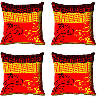 meSleep Ethnic Digital Printed Cushion Cover (20x20)