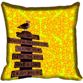meSleep Quotes Digital Printed Cushion Cover 12x12