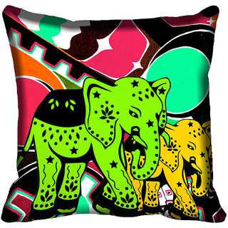 meSleep Elephant Digital Printed Cushion Cover 12x12