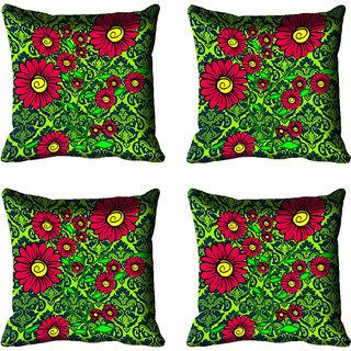 meSleep Floral Digital Printed Cushion Cover 18x18