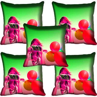 meSleep Girl Digital Printed Cushion Cover 18x18