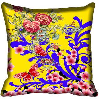 meSleep Beautiful Flower Digital Printed Cushion Cover 20x20