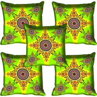meSleep Floral Design Digital Printed Cushion Cover 20x20