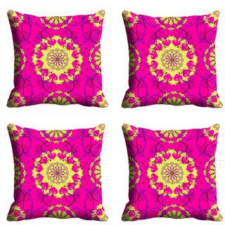meSleep Pink Ethnic Cushion Cover (18x18)