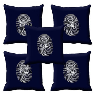 meSleep Black Abstract Cushion Cover (12X12)