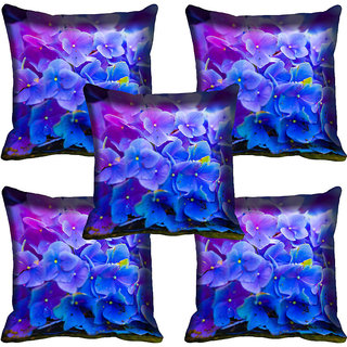 meSleep Floral Digitally Printed Cushion Cover (12x12)