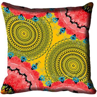meSleep Ethnic Digital Printed Cushion Cover 12x12