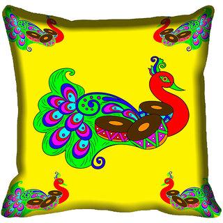 meSleep Peacock Digital Printed Cushion Cover 18x18