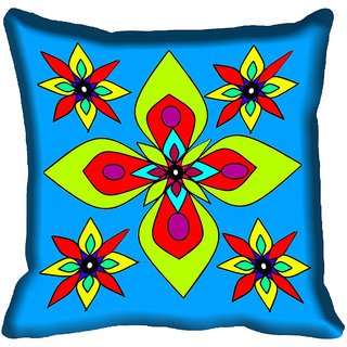 meSleep Multi Floral Digital Printed Cushion Cover 20x20