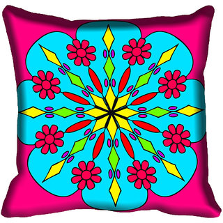 meSleep Floral Design Digital Printed Cushion Cover 12x12