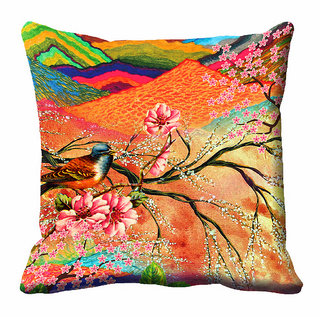 meSleep Abstract Floral Cushion Cover (20x20)