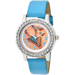 Laurex Analog Round Casual Wear Watches for Girl lx-143