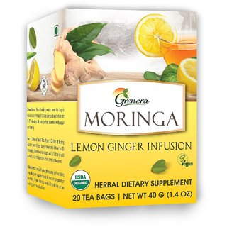 Moringa Lemon Ginger Tea 20 Tea bags / box