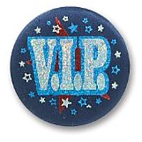 "Vip Satin Button 2"" Party Accessory"