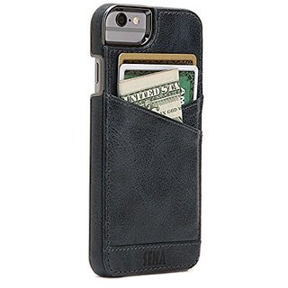 Sena Lugano Wallet, Leather wallet snap on case for iPhone 6 PLUS / 6s PLUS - Denim