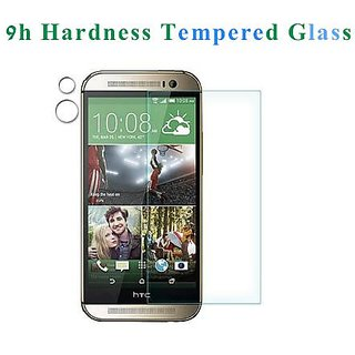 Welpad Premium Tempered Glass Screen Protector cover film Guard for HTC (htc one M8 (2014))
