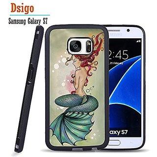 Galaxy S7 Case, Samsung S7 Black Case, Dsigo TPU Black Full Cover Protective Case