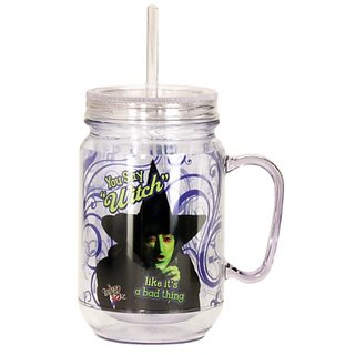 Wizard Of Oz You Say Witch Mason Jar, Purple