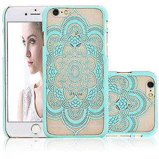 iPhone 6 Case, NOVT Flower Printed Slim Fit Hard Plastic Clear iPhone 6 Case Cover Shock Absorbing Anti-Scratch Floral T