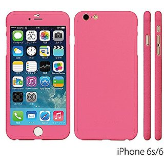 iPhone 6S/6 Case, ZENDO NanoSkin Ultra Thin 360 Case + 9H Tempered Glass Screen Protector for iPhone 6S / 6 - PINK