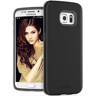 Galaxy S6 Edge Case, VENA [LEGACY LITE] Slim Hybrid Hard Cover Case for Samsung Galaxy S6 Edge (Black / Gray)