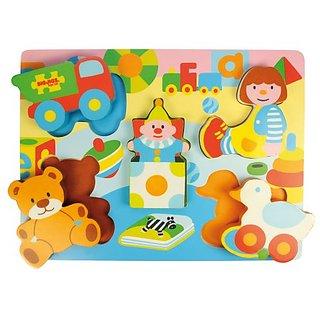 Bigjigs Toys BJ329 Chunky Lift Out Toys Puzzle