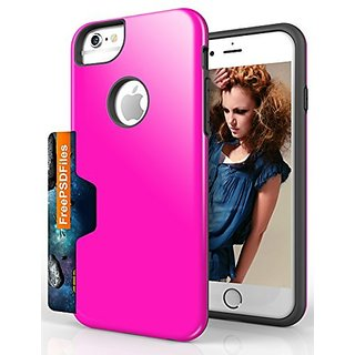 iPhone 6 Case, iMangoo Dual-Layer Protective Cover iPhone 6 Wallet Case Credit ID Card Slot Holder Hard Cover Slim Case