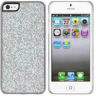 iPhone 5/5S Case - Scratch Resistant Shiny Rhinestone Protection Cover - Shock Absorbent Hard Chrome Plastic - Luxury Bl
