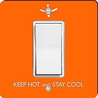Rikki Knight Keep Hot and Stay Cool Single Rocker Light Switch Plate, Orange