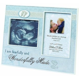 Lillian Rose Wonderfully Made Ultrasound Frame, Blue, 9