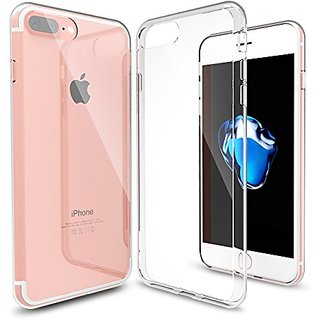 iPhone 7 Plus Case,Splaks [Crystal Shell] Extra Shock-Absorb Clear back panel ,Extreme Lightweight Transparent Soft Flex