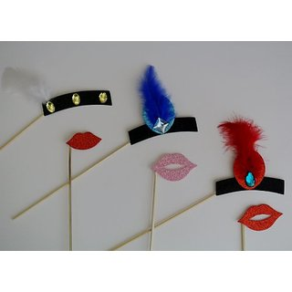 1920 Inspired Photo Booth Party Props Lips