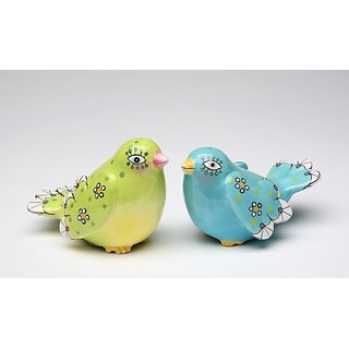 Appletree Design Birds of Fancy Salt and Pepper Set, 2-1/8-Inch, 2-3/8-Inch