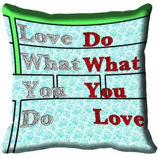 meSleep Quotes Digital Printed Cushion Cover (18x18)