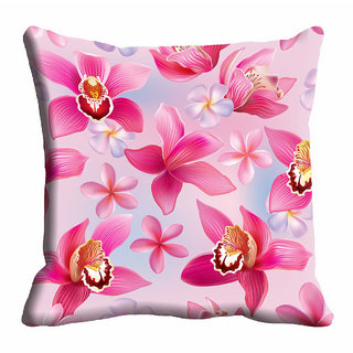 meSleep Pink 3D Flower Cushion Cover (18x18)