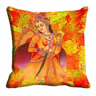 meSleep Multi Colour Rani Cushion Cover (18x18)