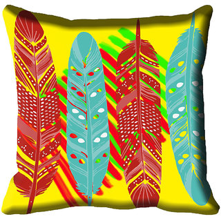 meSleep Yellow Digital Printed Cushion Cover 20x20