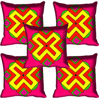 meSleep Beautiful Pattren Design Digital Printed Cushion Cover 18x18
