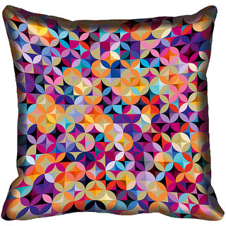 meSleep Geometric Digitally Printed Cushion Cover (20x20)