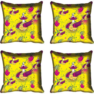 meSleep Bird Digitally Printed Cushion Cover (20x20)