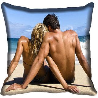 meSleep Couple Digital printed Cushion Cover (18x18)