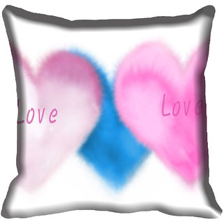 meSleep Love Digital printed Cushion Cover (20x20)