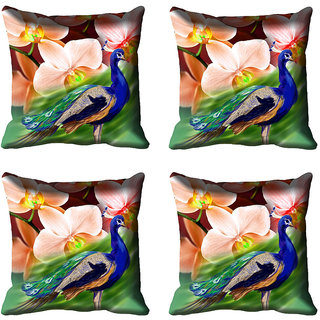 meSleep Floral Digital Printed Cushion Cover (20x20)