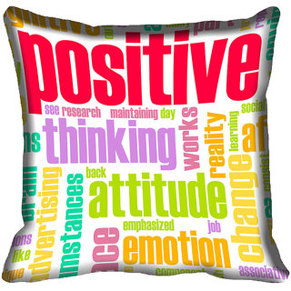 meSleep Quotes Digital Printed Cushion Cover (20x20)