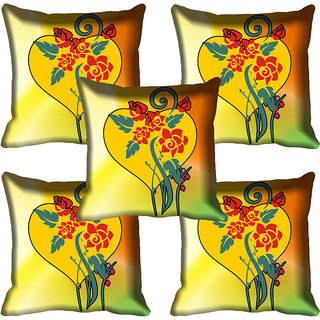 meSleep Floral Digital Printed Cushion Cover (18x18)