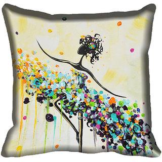 meSleep Ethnic Digital Printed Cushion Cover (18x18)