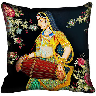 meSleep Lady Digital Printed Cushion Cover 18x18